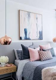 grau rosa blau schlafzimmer erröten weiße und graue