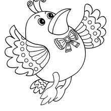 Kawaii Bird Onlien Coloring