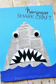 Best Art And Crafts For Kids Images On Simple Children Ideas Newspaper Shark Craft