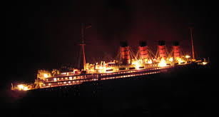 rms lusitania model a cunard line liner