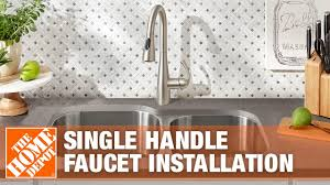 Diy Kitchen Faucet How To Replace A Kitchen Faucet With A Single Handle The Home Depot