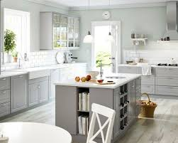 White Appliances Counters Light Grey Cabinets Houzz