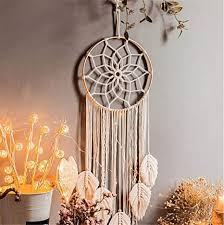 lucasng makramee traumfänger wandbehang boho handgemachte traumfänger für schlafzimmer wohnzimmer dekoration b
