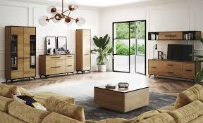 wohnzimmer komplett set b altels 6 teilig farbe riviera eiche dunkelbraun