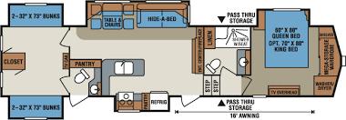 floor plan for 2013 kz stoneridge 39bh 5th wheel cer dream