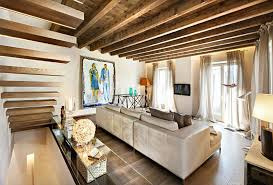 Modern Living Room Rustic Accents Several Proposals Ideas