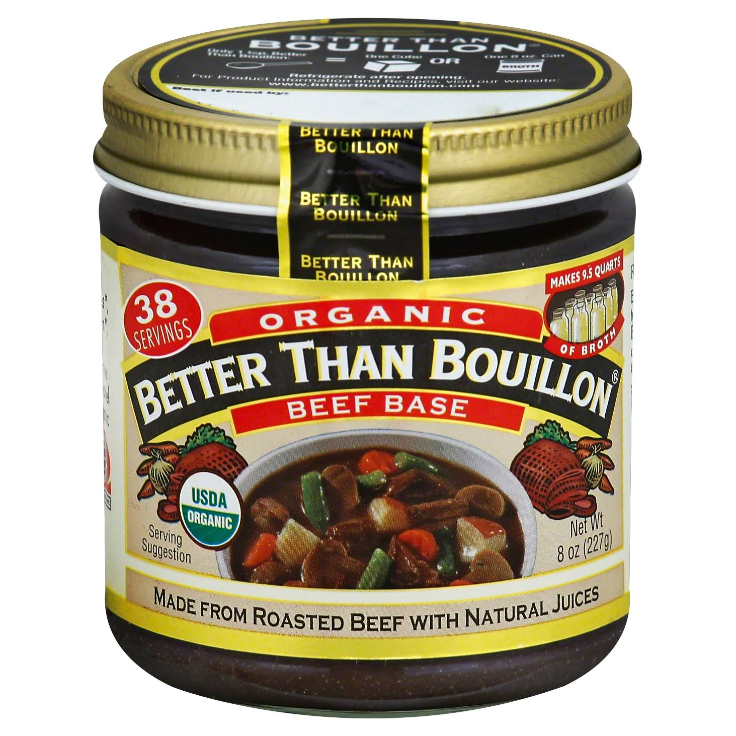Better Than Bouillon Organic Roasted Beef Base - 8oz