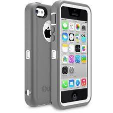 OtterBox Defender iPhone 5C Case & Holster Glacier Gray White