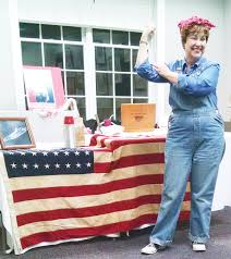 Rosie The Riveter Spirit Halloween by We Can Do It Historian Wilbur Jones And Actress Elizabeth