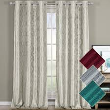 108 Inch Long Blackout Curtains by Voyage Thermal Blackout Curtains With Grommets Set Of 2 Panels