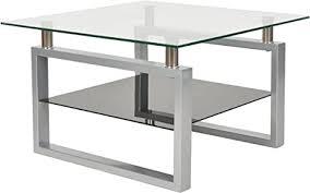 ts ideen design hartglas wohnzimmer glastisch glas beistell tisch edelstahl hochglanz ablage schwarz 8 mm esg sicherheitsglas