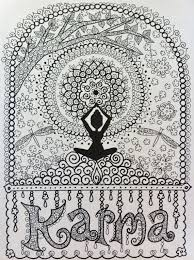 KARMA Coloring Page Digital For Adults By ChubbyMermaid