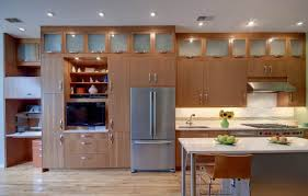 installing recessed lighting in a kitchen with laminate wood
