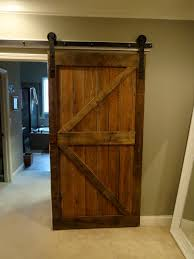 Fascinating Barn Wood Sliding Single Rustic Doors For Interior Divider Room Ideas