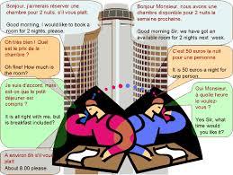 dialogue réserver une chambre d hôtel