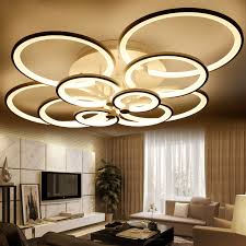 shop rings white finished chandeliers led circle modern