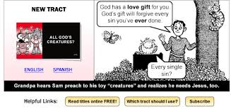 Jehovah Witness Halloween by Cartoon Tracts