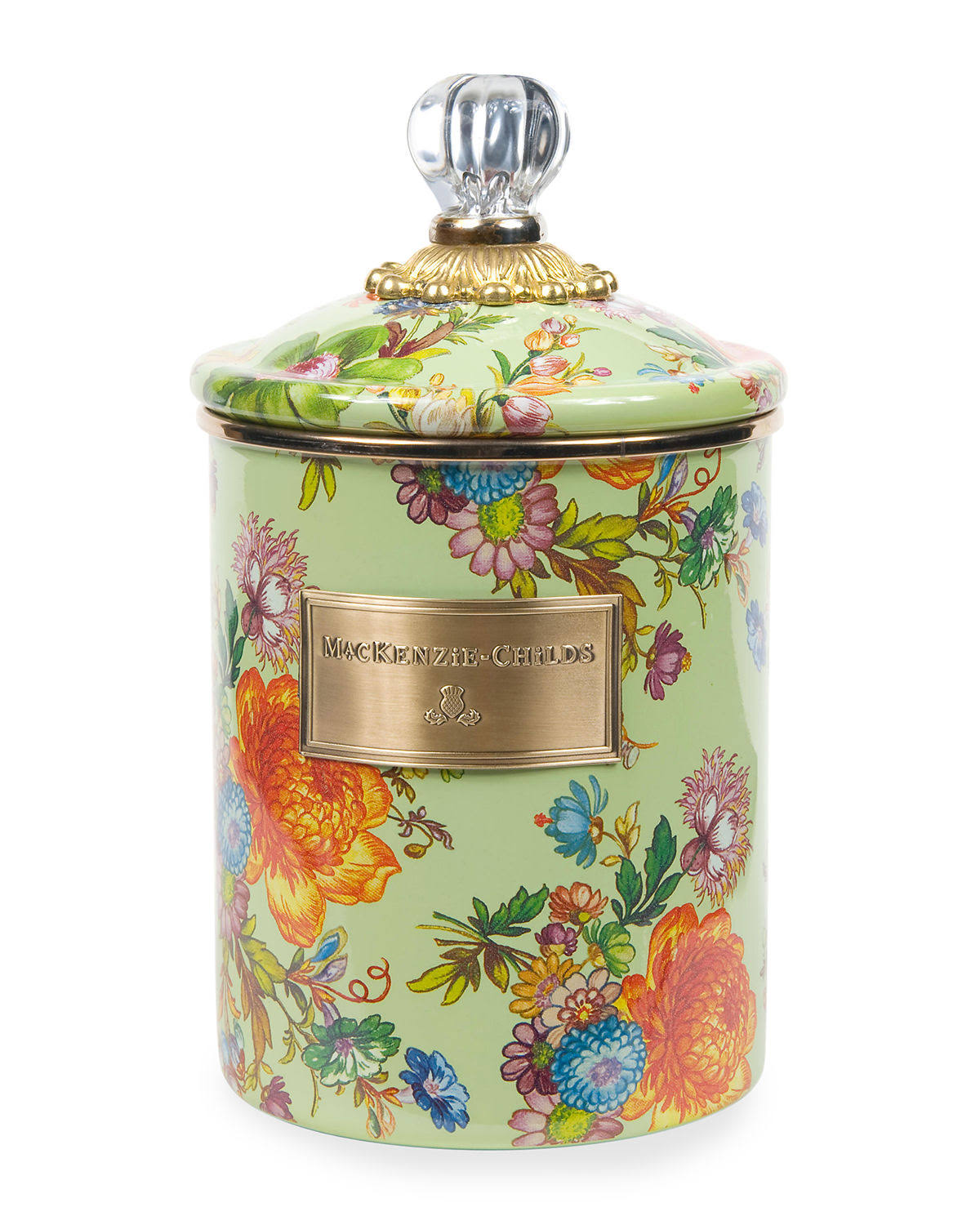 MacKenzie-Childs Flower Market Medium Canister - Green