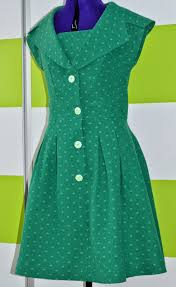 i believe i can sew green polka dots retro dress butterick 5747