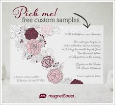 Graphic Flower Wedding Invitation Personalized In Burgundy And Pink