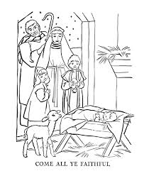 Christmas Coloring Pages About Jesus CartoonRocks