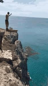 Cliff Jump GIF