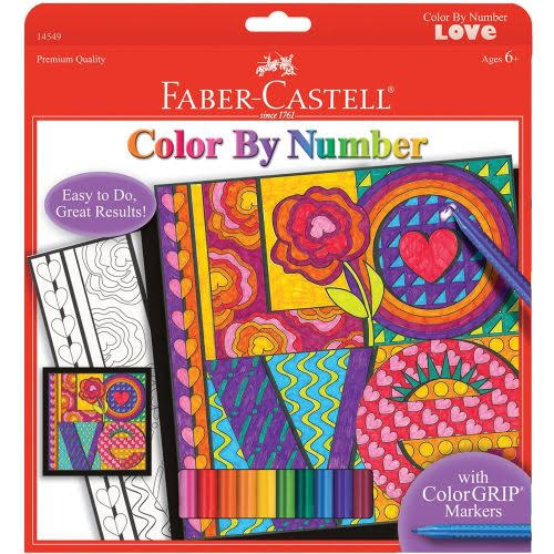 Faber-Castell Color By Number Love Art Kit
