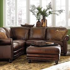 Pottery Barn Turner Sectional Sofa by Impressive Leather Sofa With Chaise With Turner Square Arm Leather