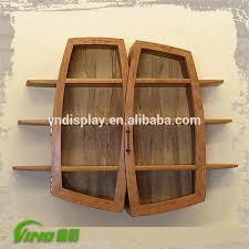 Vintage Wood Ferfume Display Storage Case With Door Handmade Wall Oil Rack Displayrustic