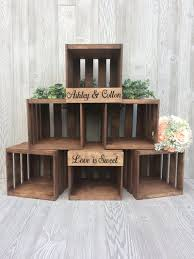 Rustic Wedding Cupcake Stand Crate Wood