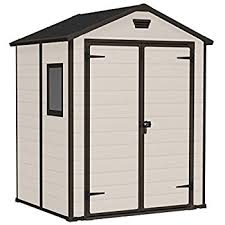 Keter Stronghold Shed Assembly by Keter Manor Outdoor Plastic Garden Storage Shed 6 X 5 Feet