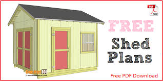 Free Diy 10x12 Storage Shed Plans by Free Shed Plans With Drawings Material List Free Pdf Download