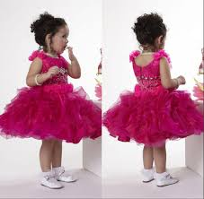 beautiful fancy kids toddler pageant dress jewel neck cap