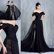 tony chaaya black elegant formal evening gowns 2017 modest off