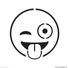 Download Coloring Pages Smiley Face Page Emoji Free Printable Drawing