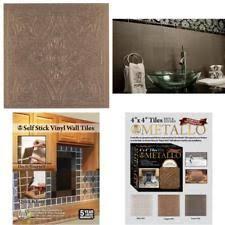 Ebay Decorative Wall Tiles by 16 Pc Copper Sunflower Embossed Tiles Backsplash Kitchen Wall Self