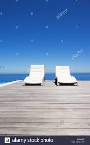 100 Marine Folding Deck Chairs Chairs On Infinity Pool Deck Stock Photo 12528735 Alamy