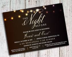 Rehearsal Dinner Invitations Rustic Black And Gray Linen