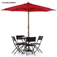 Patio Umbrella Replacement Canopy 8 Ribs by Ikayaa Fr Stock 3m Wooden Beach Garden Patio Umbrella Cafe Parasol