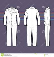Simple Outline Drawing Of A Men S Suit