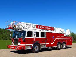 100 Mass Fire Trucks Quincy Department MA 2014 KME Aerial Predator Fire Truck