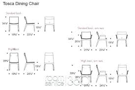 17 Dining Room Chair Dimensions Standard With Fine