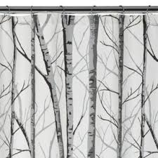 arbor fabric shower curtain white black grey 70x72 by target