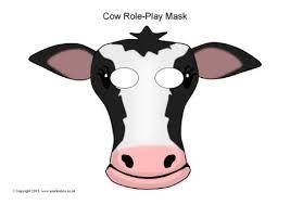 Cow Role Play Masks SB9253 Simple Printable