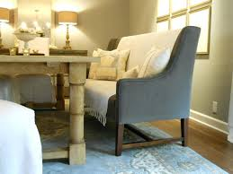 Dining Table Bench With Back Striped Pattern Cover For And Oval Grey Beautiful Room Color High