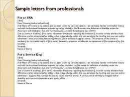 Emotional Support Dog Letter Template