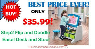 Step2 Art Easel Desk Toys by Top Toy Step2 Flip And Doodle Easel Desk And Stool Only 35 99