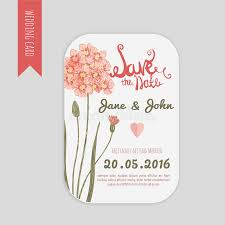 Download Vector Save The Date Card With Hand Drawn Vintage Daisy Flower In Rustic Style And