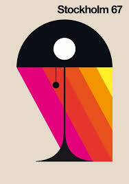 Country Graphic Design Poster By Bo Lundberg