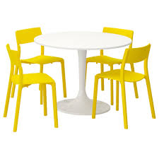 Table And 4 Chairs DOCKSTA / JANINGE White, Yellow Chair Marvelous Round Table And 4 Chairs Ding Table Juno Chairs Table And Chairs Plastic Round Mfd025 Ding Soren 5 Piece Piece Set 1 With 1200diam Finished In Concrete Miss Charcoal Coon Rapids With Luxury White Chrome Glass Lipper Childrens Walnut Key West 5piece Outdoor With